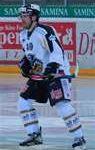 Vegan hockey player Andreas Hanni in Swiss National League during a game