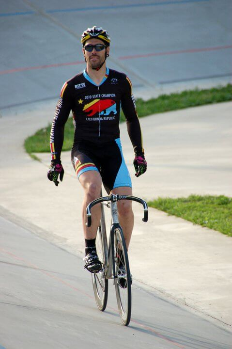 Professional cyclist, Jack Lindquist, rides elegantly during a race
