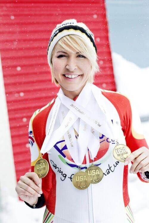 Heather Mills With Medal